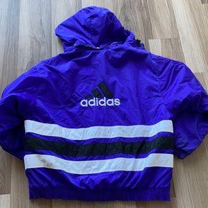 Vintage Adidas Stadium Three Stripe Puffer Jacket